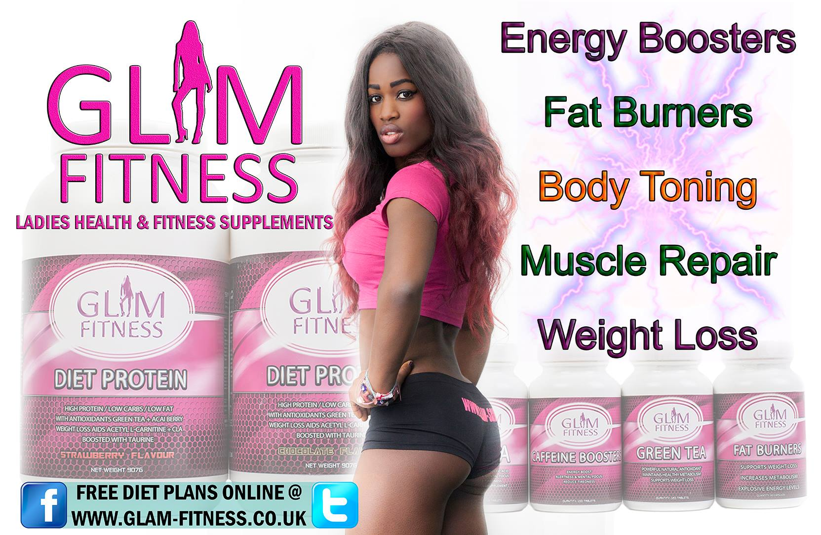 Glam Fitness Poster