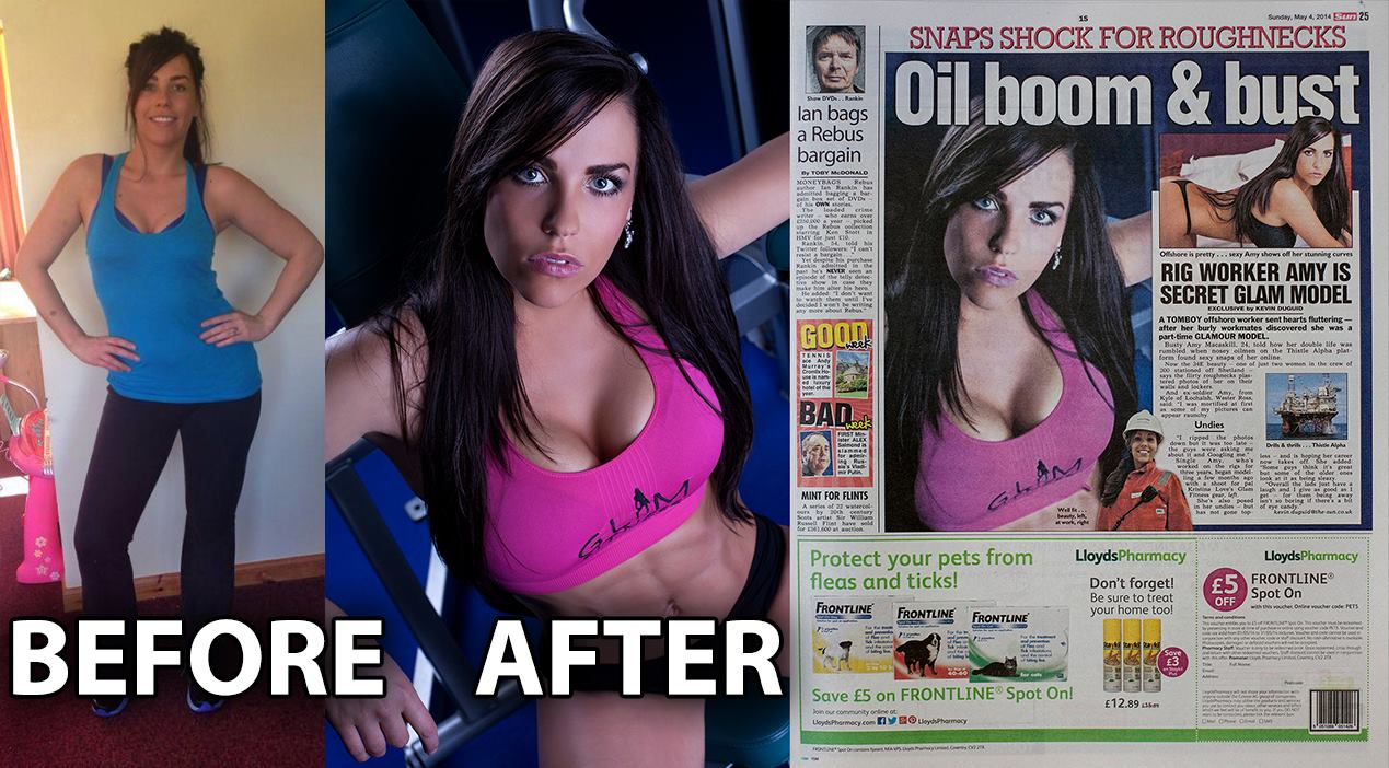 Amy Before After Glam Fitness